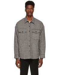 Golden Goose Deluxe Brand - Tan Check Harald Shirt - Lyst