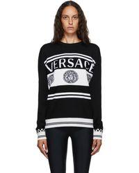 Versace - ブラック And ホワイト ビンテージ Medusa セーター - Lyst