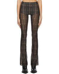CHARLOTTE KNOWLES Pantalon a motif cachemire brun Halcyon - Marron