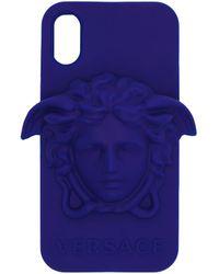 Versace - ブルー メドゥーサ Iphone X ケース - Lyst