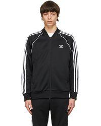 adidas Originals ブラック プライムブルー Adicolor Sst Track セーター