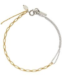Justine Clenquet Silver And Gold Jamie Choker - Metallic