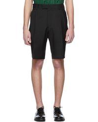 Tiger Of Sweden Black Mohair Thim Shorts