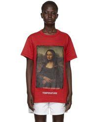 Off-White c/o Virgil Abloh - Red Diagonal Monalisa T-shirt - Lyst