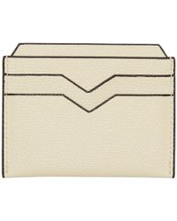 Valextra - Off-white 4cc Card Holder - Lyst