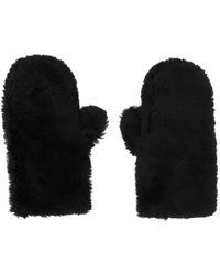 Yves Salomon Black Convertible Wool Mittens