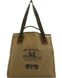 Junya Watanabe Seil Marschall Edition カーキ ロゴ トート - ナチュラル