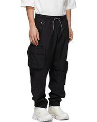 A.A.Spectrum光谱 Black Jersey Cargo Trousers