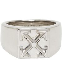 Off-White c/o Virgil Abloh Silver Arrow Ring - Metallic