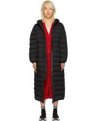 Moncler ブラック ダウン Grue コート