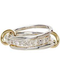 Spinelli Kilcollin Diamond Petunia Three-link Ring - Metallic