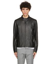 BOSS by Hugo Boss - Black Leather Gemos Jacket - Lyst