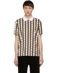 Versace - White And Gold Neoclassical Polo - Lyst
