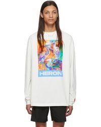 Heron Preston オフホワイト Heron Colors ロング スリーブ T シャツ - マルチカラー