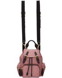 Burberry - Pink Small Nylon Rucksack - Lyst