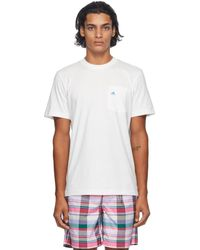 Noah Adidas Originals Edition ホワイト シェル ロゴ ポケット T シャツ