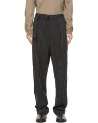 Lemaire Grey Silk Loose Trousers - Multicolour