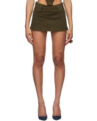CHARLOTTE KNOWLES Ssense Exclusive Khaki Andara Skirt - Multicolour