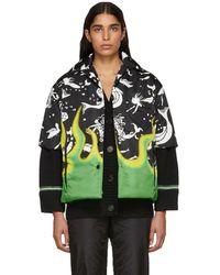 Prada - Black Flame And Mermaid Shirt - Lyst