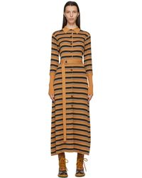 Chloé - タン ストライプ ドレス - Lyst