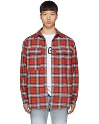 Fear Of God Red Flannel Shirt Jacket