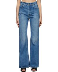 Paco Rabanne Blue Flare Jeans