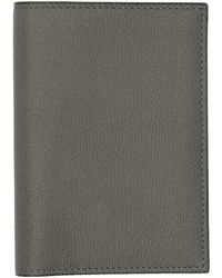 Valextra - Grey 3cc Passport Holder - Lyst