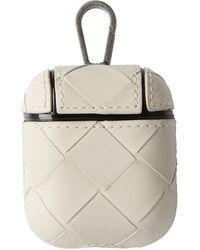 Bottega Veneta Off-white Intrecciato Airpods Case