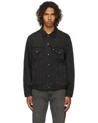 Levi's ブラック Vintage Fit デニム トラッカー ジャケット