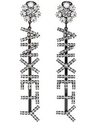 Ashley Williams - Ssense Exclusive Black Anxiety Earrings - Lyst