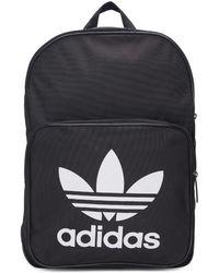 911b0eb2c7bb adidas Originals - Black Classic Trefoil Logo Backpack - Lyst