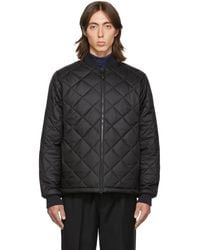 The Very Warm Ssense Exclusive Black Light Quilted Bomber Jacket