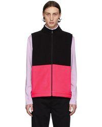 Harris Wharf London Black & Pink Polaire Vest - Multicolour
