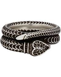 Gucci Silver Garden Snake Ring - Metallic