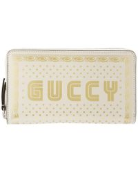 Gucci - White Guccy Sega Logo Wallet - Lyst