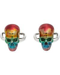 Paul Smith Boutons de manchette colores à têtes de mort - Multicolore