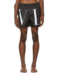 Valentino - Black Vltn Swim Shorts - Lyst