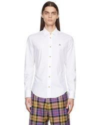 Vivienne Westwood ホワイト Slim シャツ