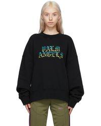 Palm Angels - ブラック Hue Gothic ロゴ スウェットシャツ - Lyst