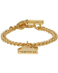 Off-White c/o Virgil Abloh - Ssense Exclusive Gold Triangle Bracelet - Lyst