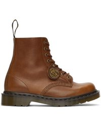 Dr. Martens タン Made In England 1460 Pascal ブーツ - ブラウン