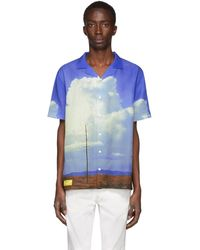 Axel Arigato Blue Oil Painting Texas Short Sleeve Shirt