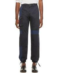 Jacquemus Navy Le Pantalon Gadjo Workwear Pants - Blue