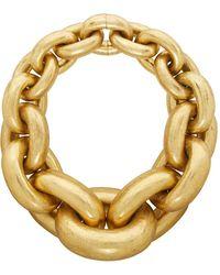 Monies Gold Chain Link Necklace - Metallic