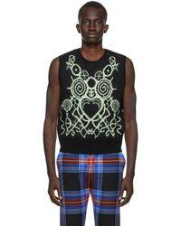 Charles Jeffrey LOVERBOY Ssense Exclusive Black & Green Pict Vest - Multicolour