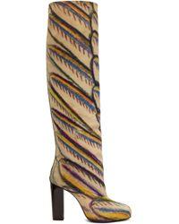 Lemaire Colour Martín Ramírez Printed Tall Boots - Multicolour