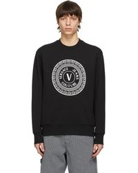 Versace Jeans Couture ブラック Coin ロゴ スウェットシャツ