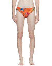 Versace Culotte de bikini Trésor de la mer orange - Multicolore