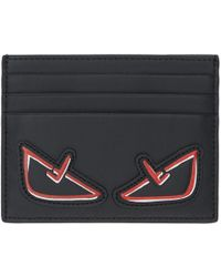 Fendi - Black Bag Bugs Card Holder - Lyst