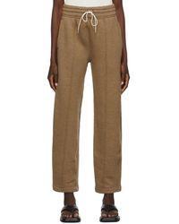 Agolde Pantalon de survêtement brun en coton - Marron
